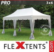 Gazebo Rapido FleXtents Pro 3x6m Latte, incl. 6 tendaggi...