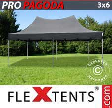 Gazebo Rapido FleXtents Pro 3x6m Nero, incluso 6 pareti...