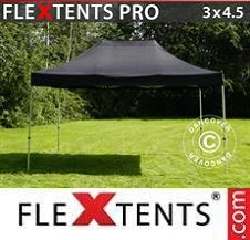 Gazebo Rapido FleXtents Pro 3x4,5m Nero