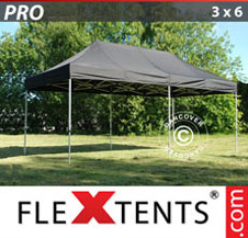 Gazebo Rapido FleXtents Pro 3x6m Nero