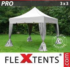Gazebo Rapido FleXtents Pro 3x3m Latte, incl. 4 tendaggi...