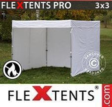 Gazebo Rapido FleXtents Pro 3x3m, Bianco,...